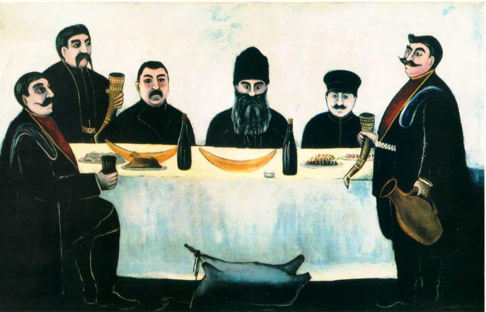 Супра на картине «Пир» Нико Пиросмани