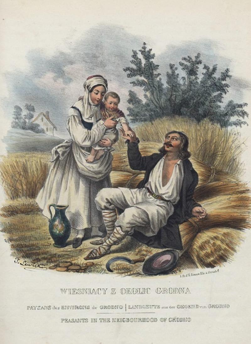 Ян Левицкий «Крестьяне из окрестностей Гродно»