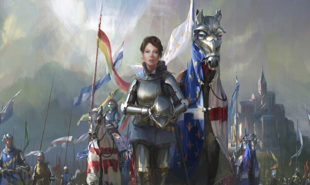 Жанна д'Арк — национальная героиня Франции / © ahn hyoungsup / melontee.artstation.com