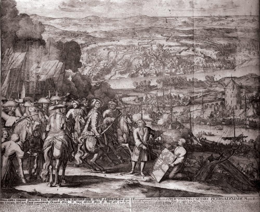 Адриан Шхонебек «Взятие Азова. 1699 год»