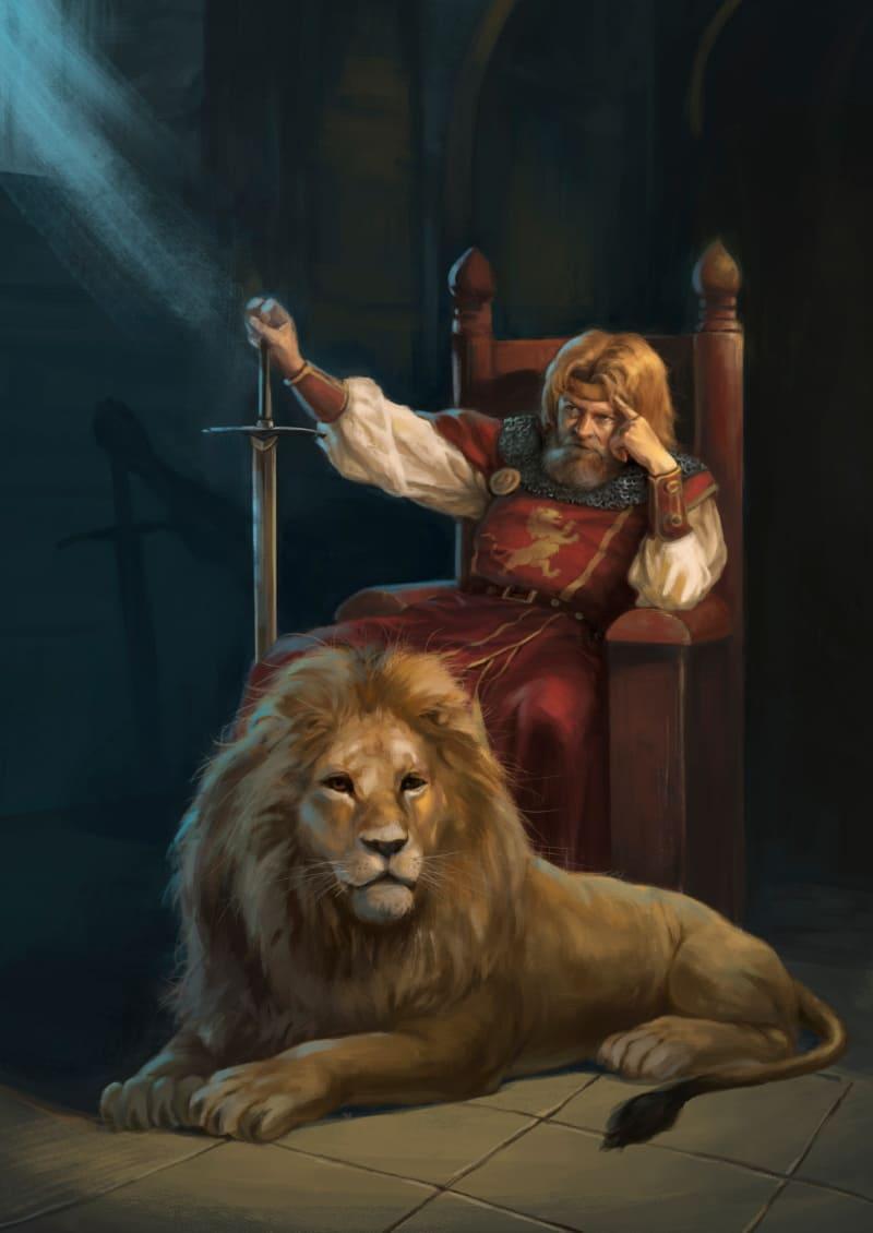 Английский король Ричард I Львиное Сердце / © Joseph Qiu / josephqiuart.artstation.com