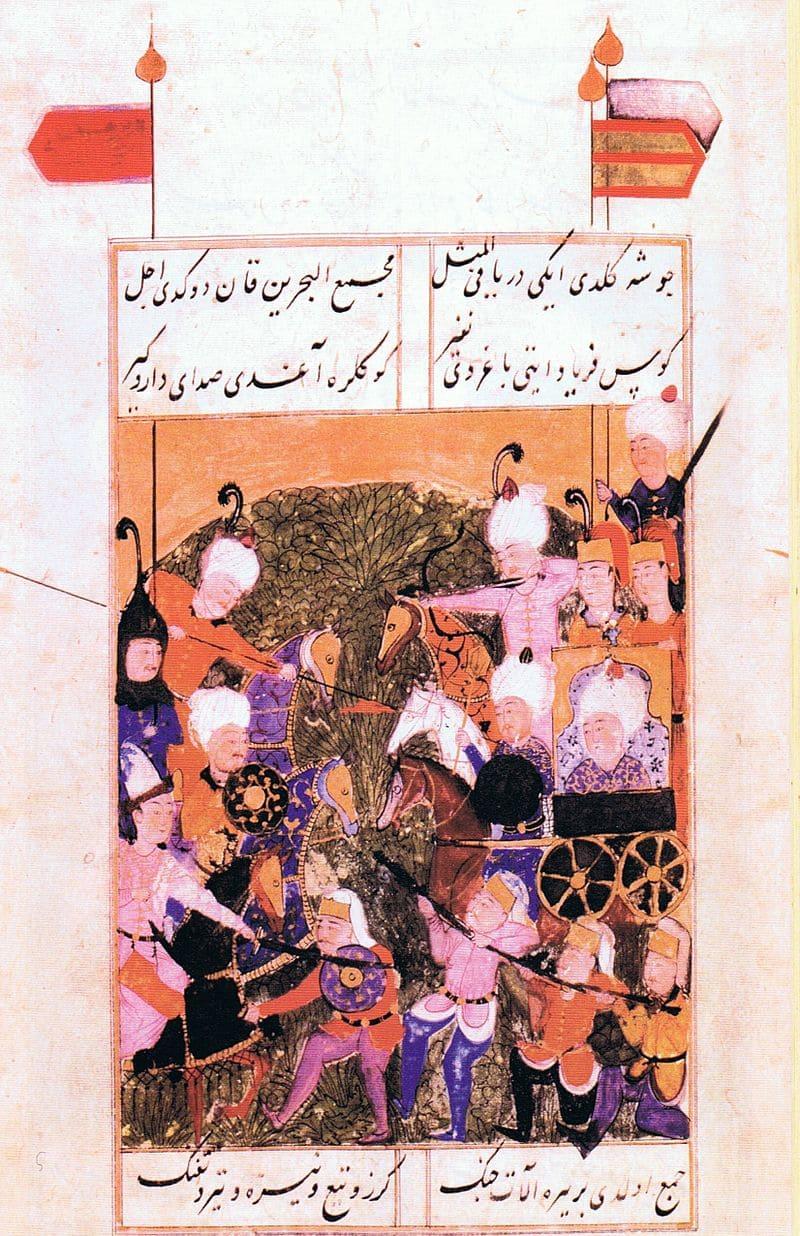 Баязид II сражается со своим сыном Селимом I