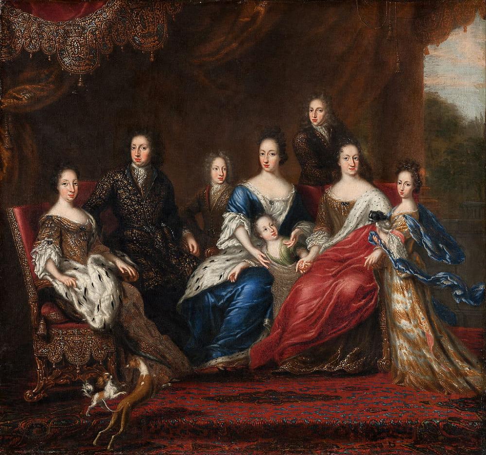 Давид Клёккер-Эренстраль «Карл XI с родственниками из герцогства Гольштейн-Готторп»