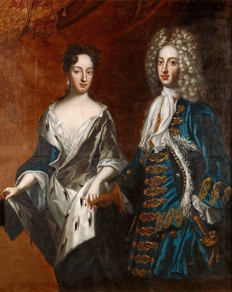 Давид фон Крафт «Портрет Фридриха и Софии» (дедушка и бабушка Петра III)