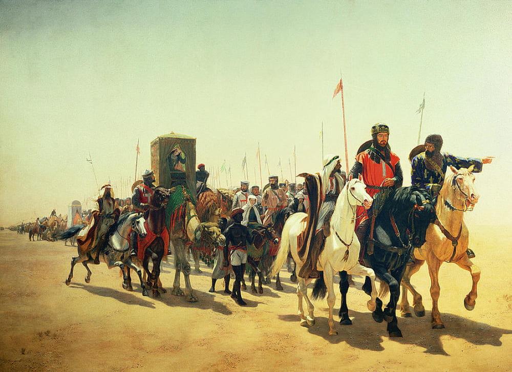 Джеймс Уильям Гласс «Ричард Львиное Сердце на пути в Иерусалим»