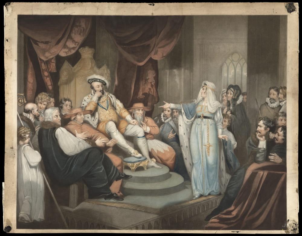 Екатерина Арагонская перед королем Генрихом VIII