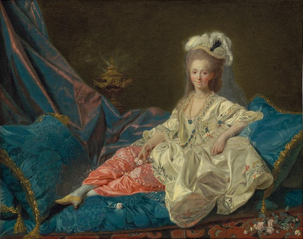 Этьен Обри «Предполагаемый портрет мадемуазель Дюте, любовницы графа д'Артуа»