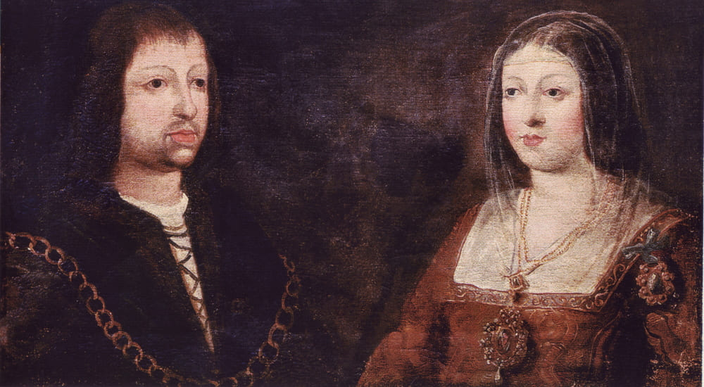 Фердинанд и его жена Изабелла после свадьбы