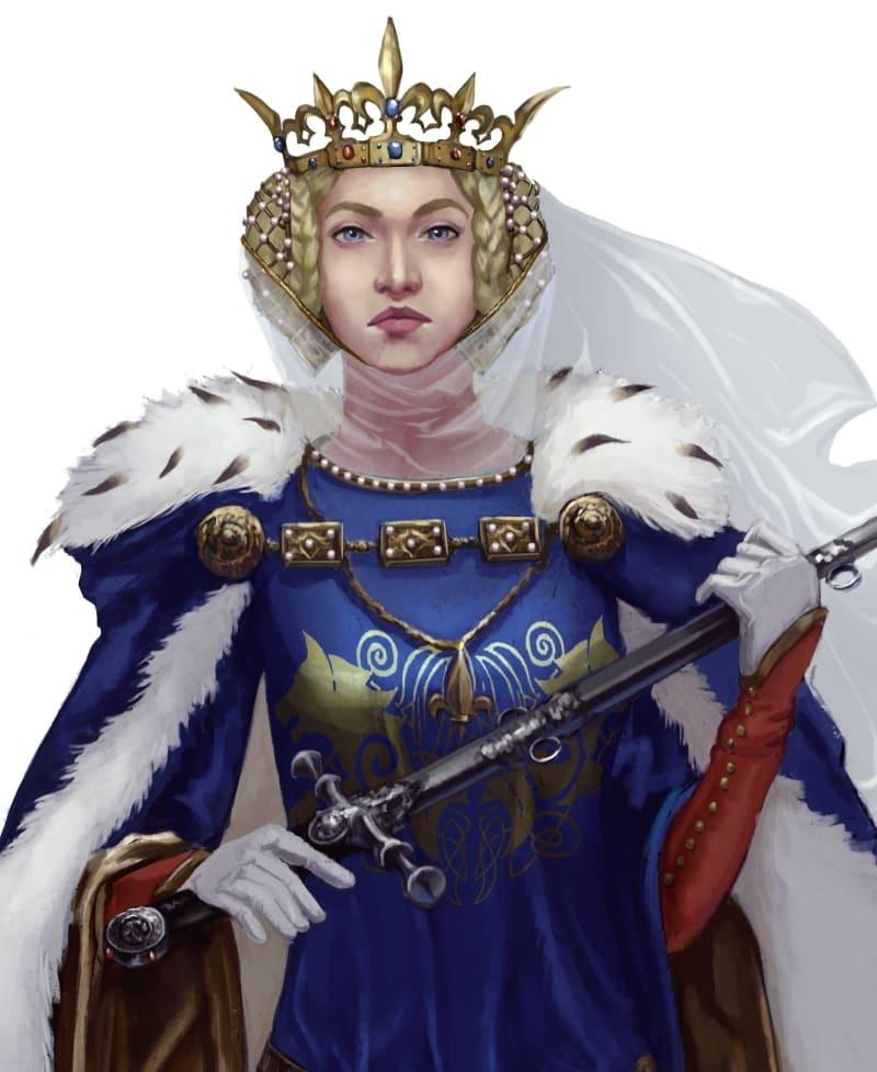 Изабелла Французская, королева Англии / ©Lilla Horvath / lillaho.artstation.com