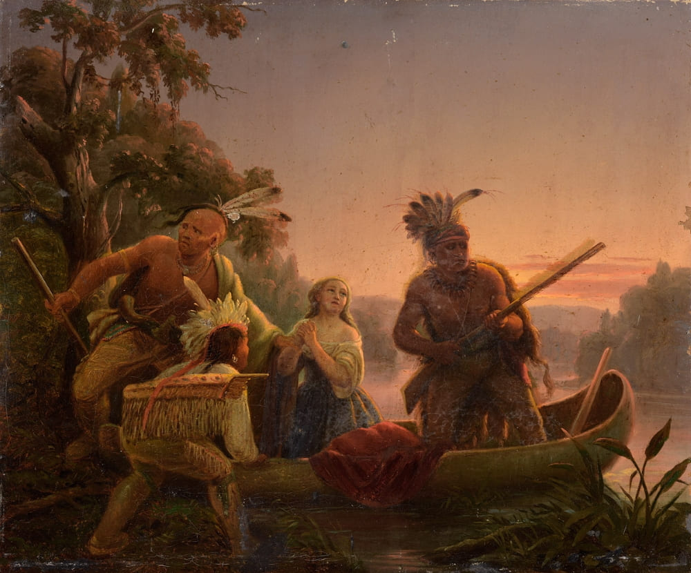 Карл Вимар «Похищение индейцами дочери Буна»