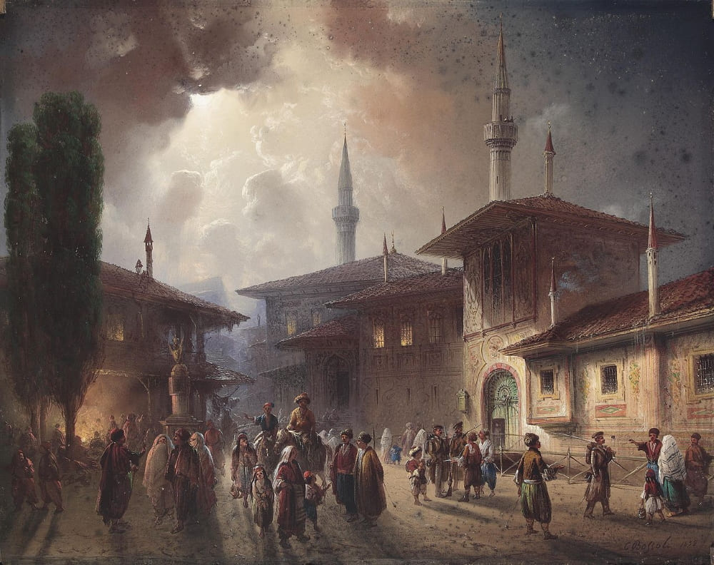 Карло Боссоли «Ханский дворец в Бахчисарае — бывшая резиденция крымских ханов»