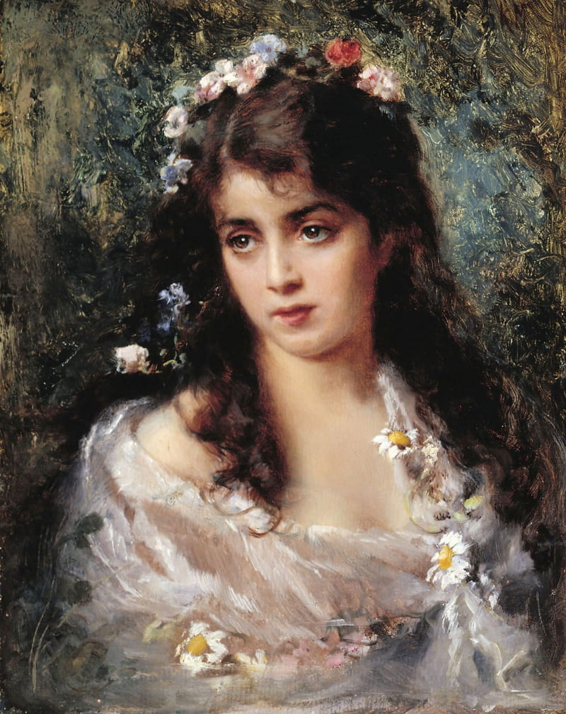 Константин Маковский «Девушка в костюме Флоры», не является портретом Марии Гамильтон