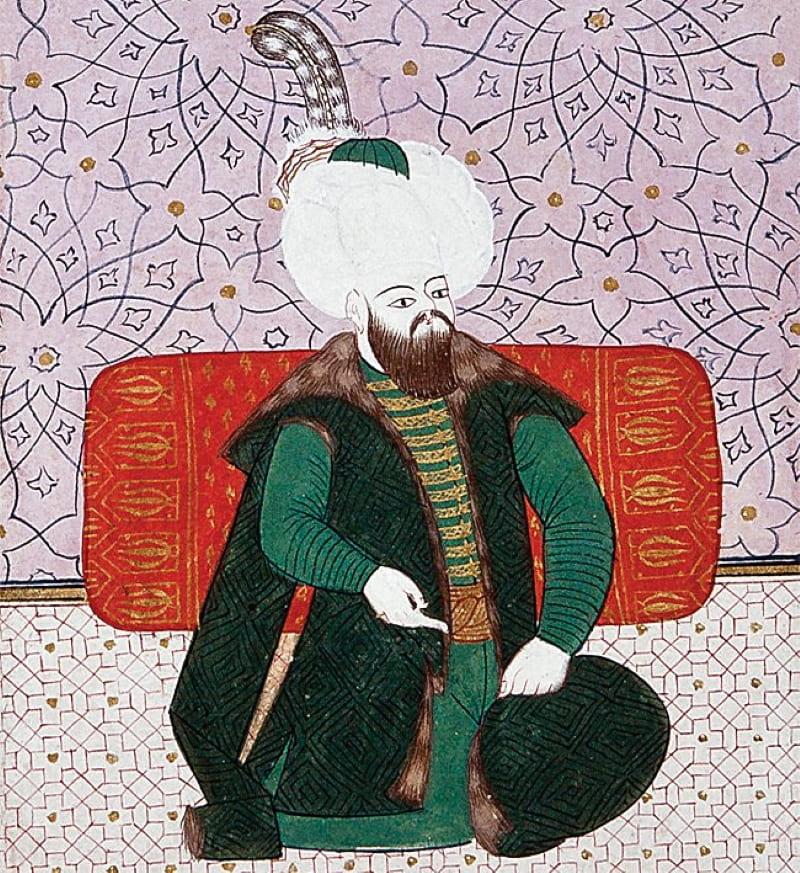 Османский султан Баязид II на миниатюре