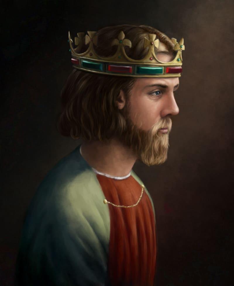Портрет Эдуарда II. Исторический портрет, основанный на современных источниках / © Martin Woods / martinwoods.artstation.com