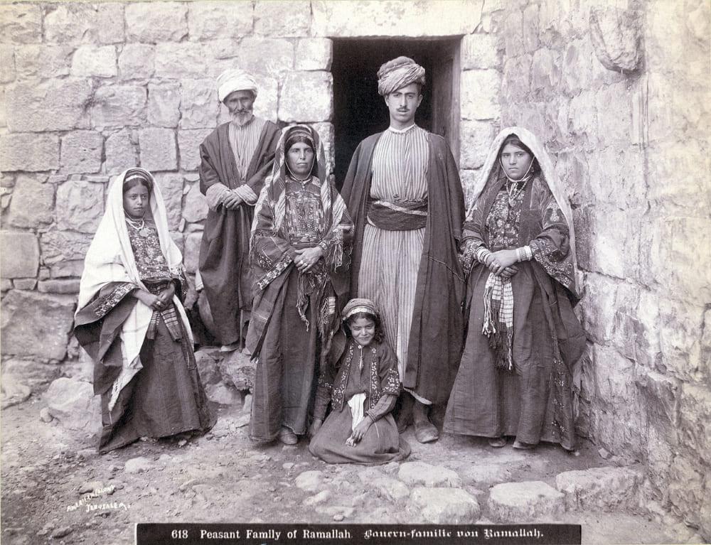 Семья в Рамалле, 1900-1910 годы
