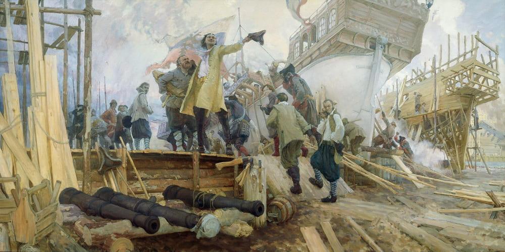 Юрий Кушевский «Постройка в Воронеже флотилии для второго Азовского похода Петром I в 1696 году»