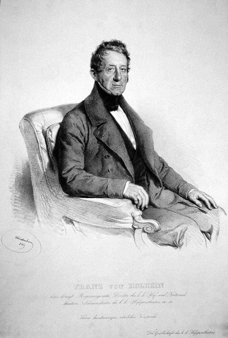Йозеф Крихубер «Портрет Франца Игнаца фон Гольбейна»
