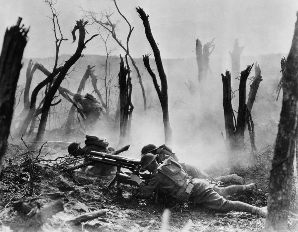 Американские солдаты в Аргонском лесу