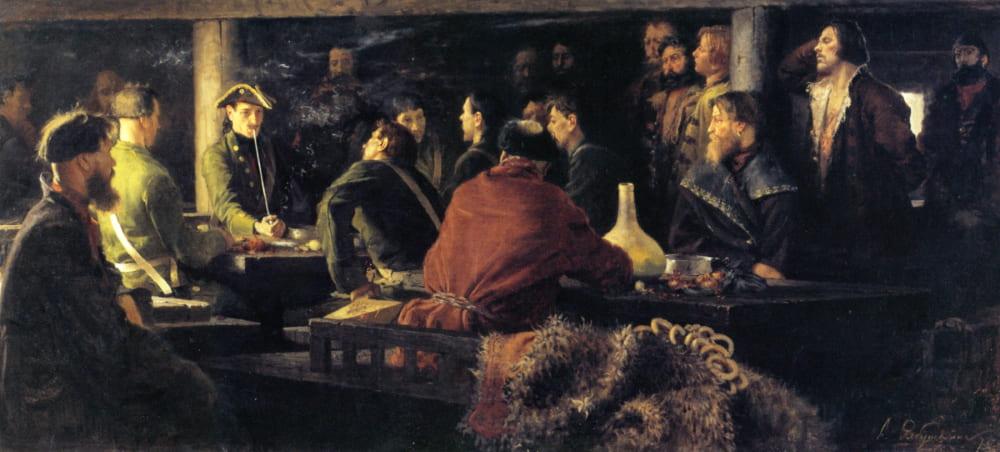 Андрей Рябушкин «Потешные Петра I в кружале»