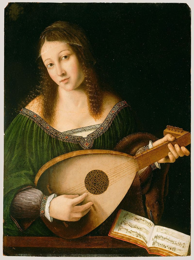 Бартоломео Венето «Святая Цецилия, играющая на лютне» (один из портретов Чечилии Галлерани)