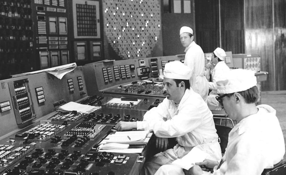 Диспетчеры ЧАЭС за работой / chernobyl-heart.com