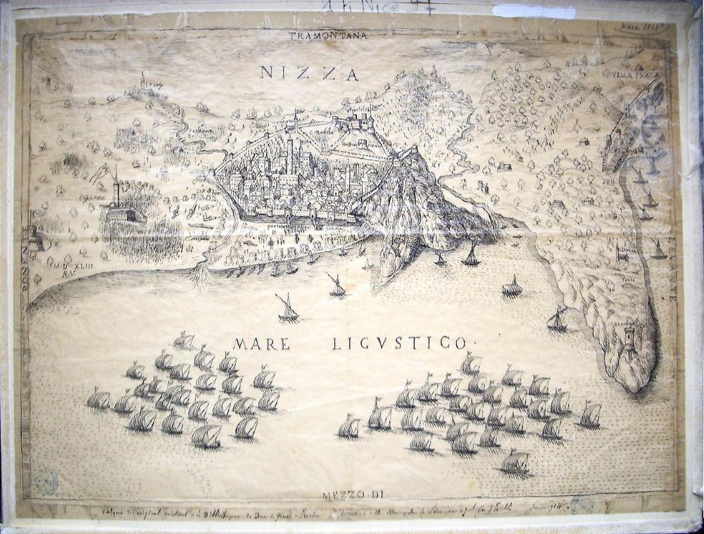 Французский и османский флоты перед Ниццей