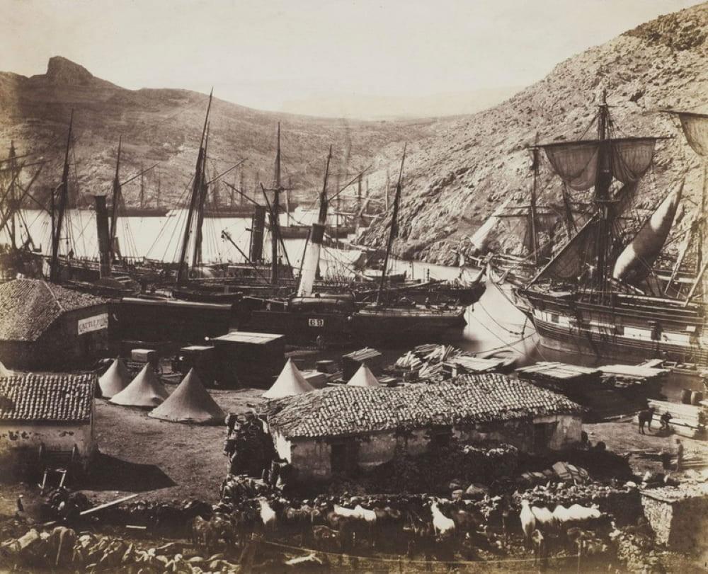 Гавань Балаклавы в годы Крымской войны