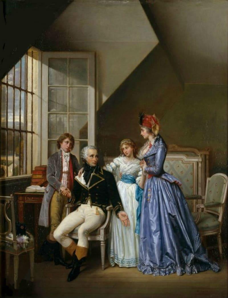 Гектор Виже «Генерал Александр де Богарне с супругой Жозефиной, сыном Эженом и дочерью Гортензией»