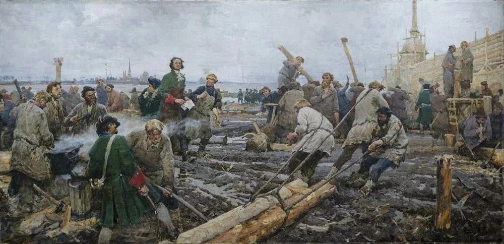 Георгий Песис «Петр I на строительстве Санкт-Петербурга»