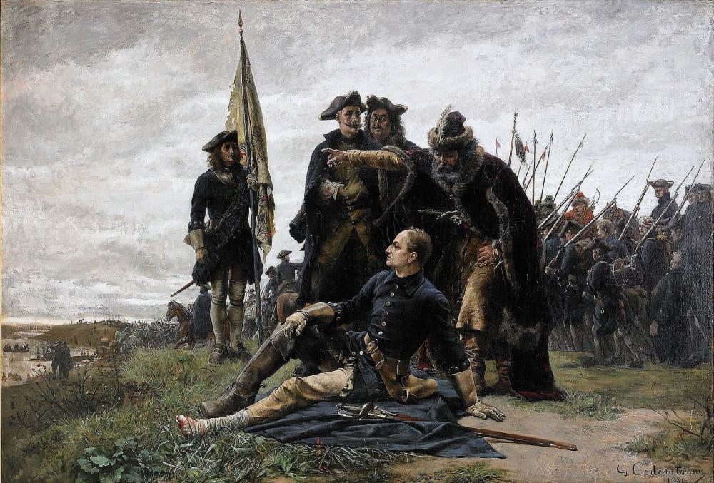 Густав Седерстрём «Карл XII и Иван Мазепа после Полтавской битвы»