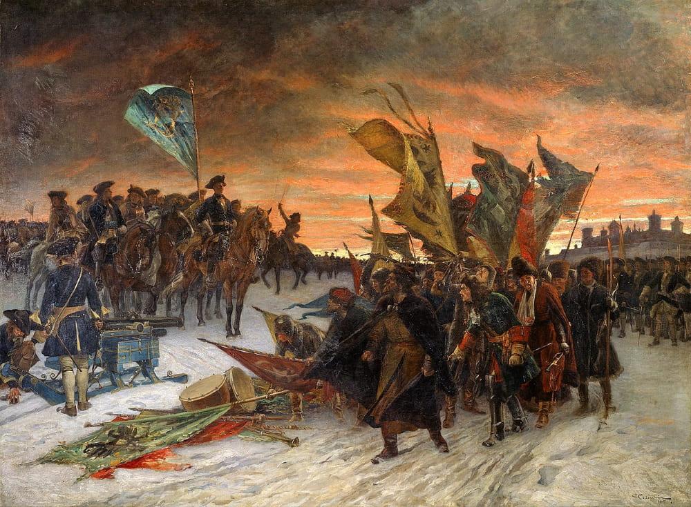 Густав Седерстрём «Победа шведов в битве при Нарве»