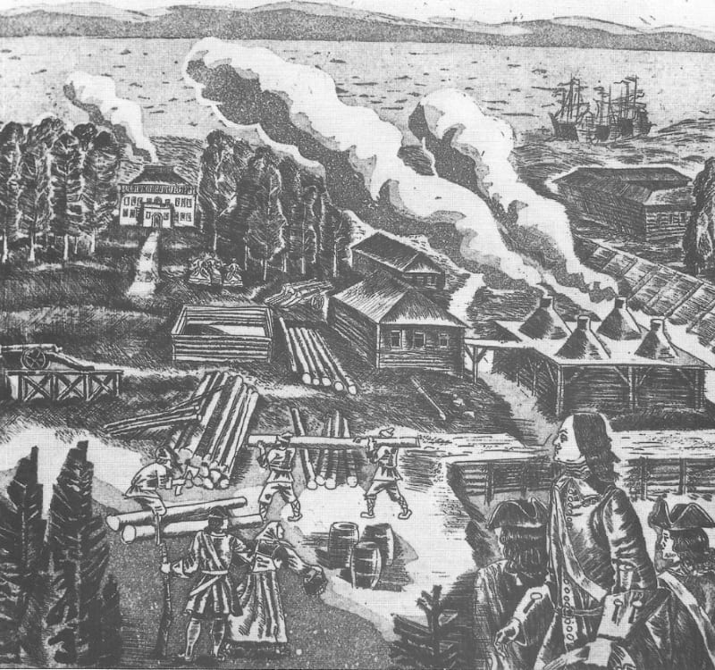 Картина Б. Акбулатова «Петровский завод»