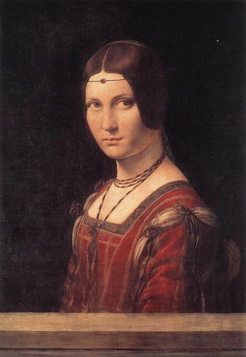 Леонардо да Винчи «Прекрасная Ферроньера» (Лукреция Кривелли)