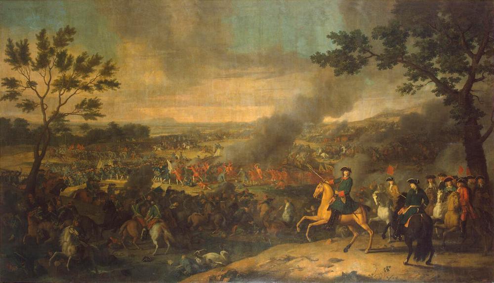 Луи Каравак «Пётр I в Полтавской битве»