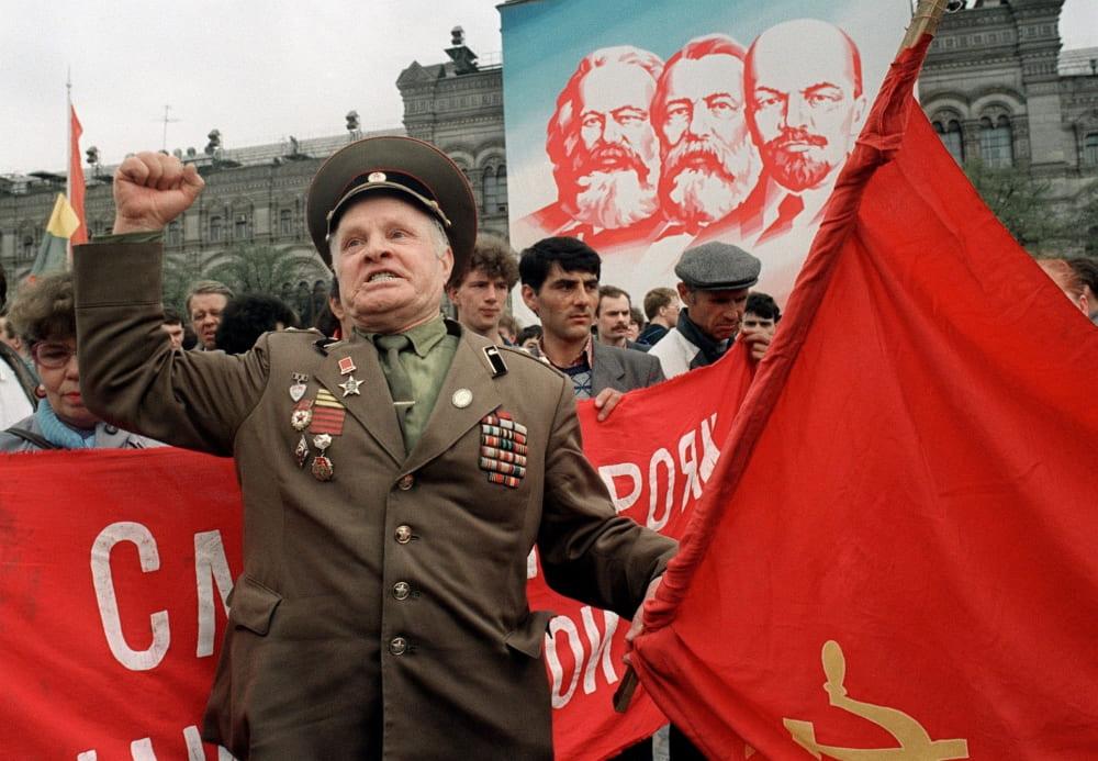 Митинг коммунистов в 1991 году
