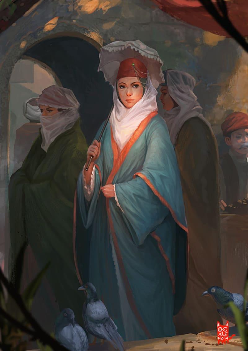 Османская женщина / © Rio Sabda / kepondangkuning.artstation.com