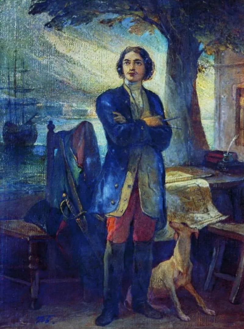 Петр Басин «Основание Петербурга в 1703 году»