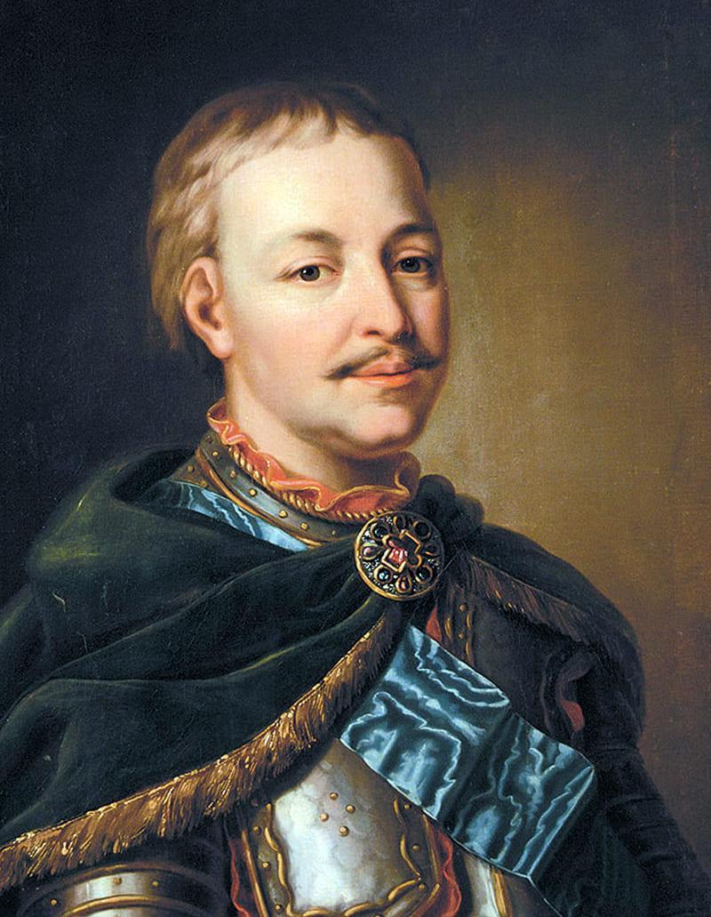 Портрет Ивана Мазепы в латах и с «андреевской лентой»