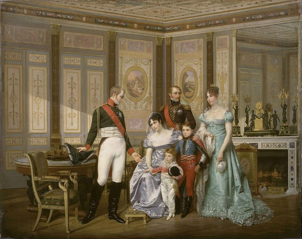 Российский царь Александр I с Жозефиной де Богарне