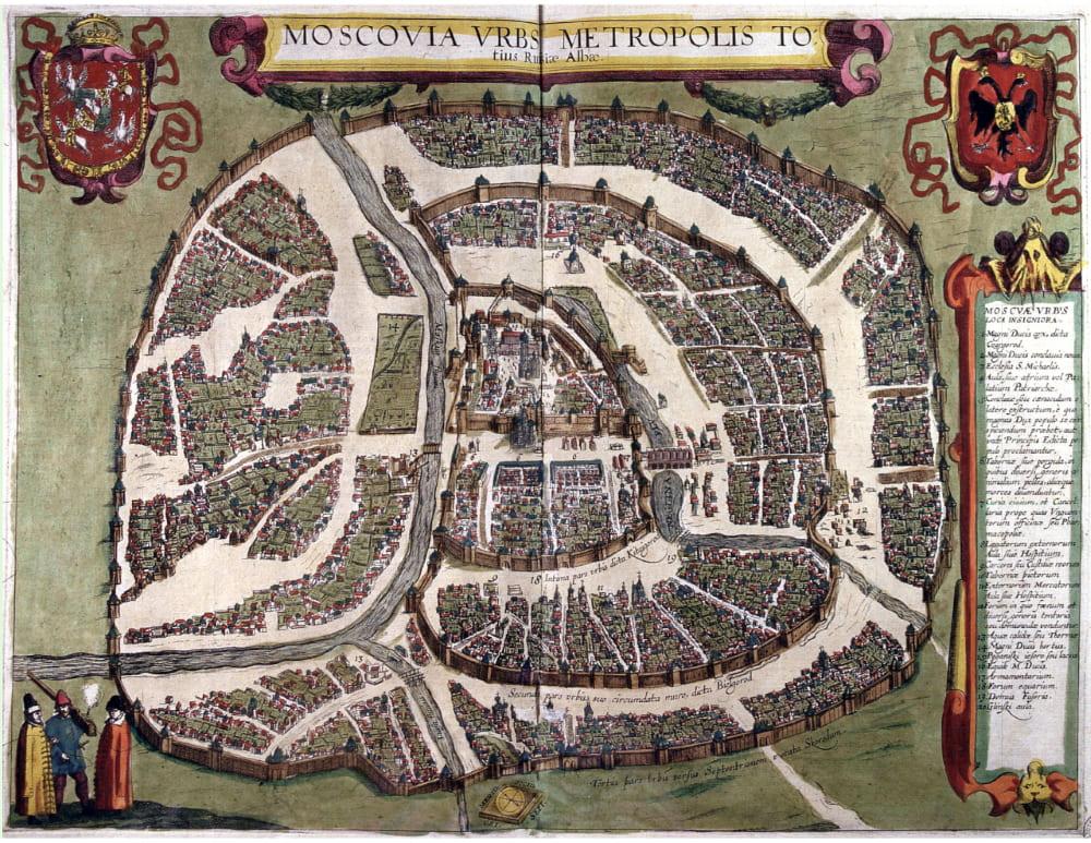 Сигизмундов чертёж Москвы, выполненный поляками, гравированный в 1610 году