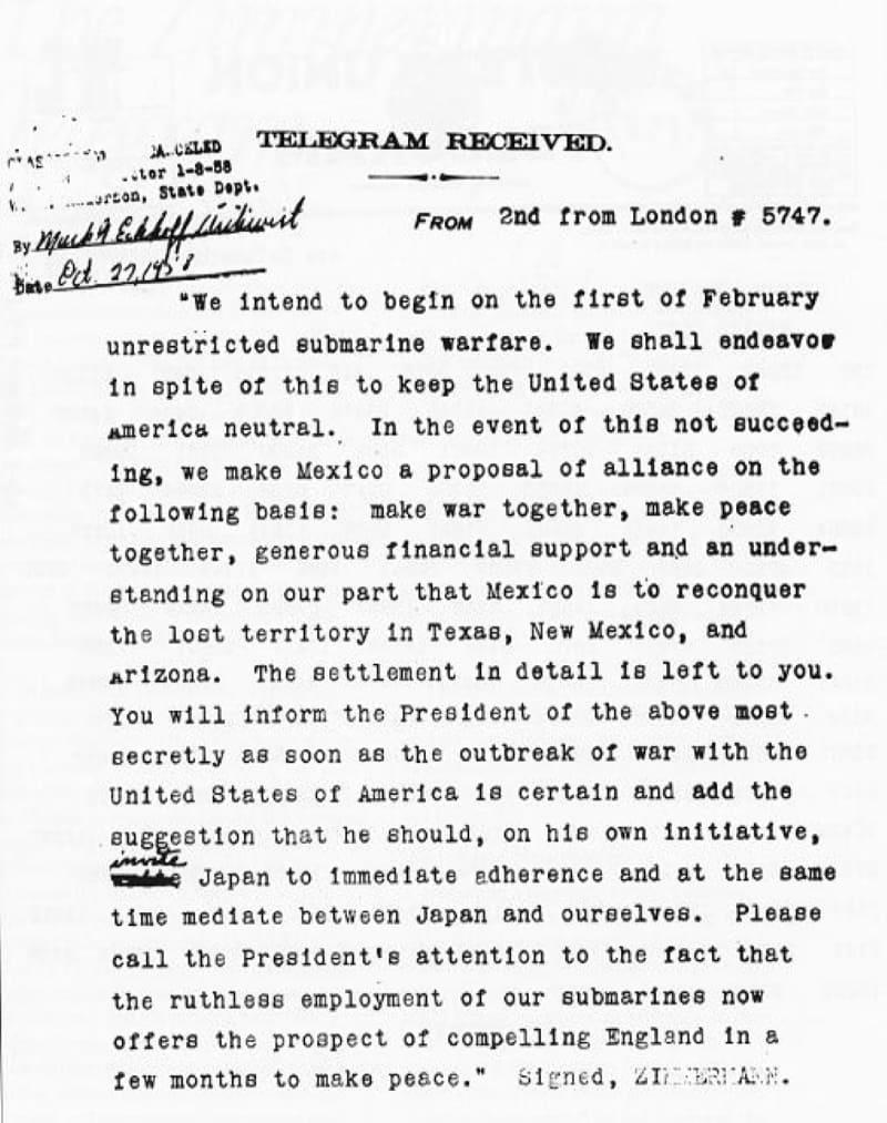 Расшифрованная телеграмма
