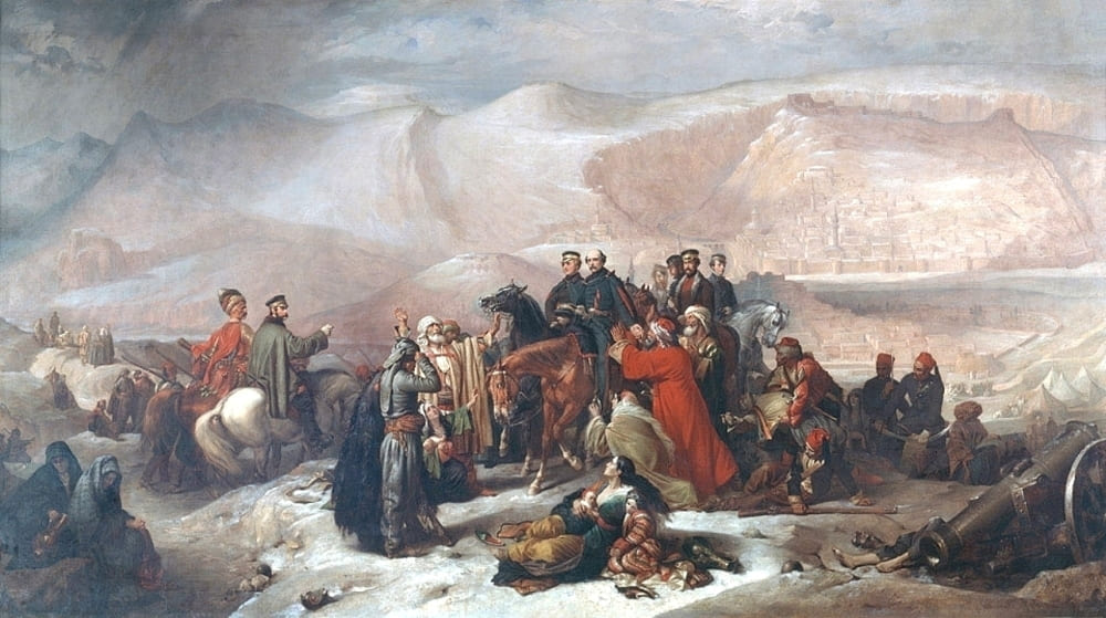 Томас Джонс Баркер «Сдача Карса, Крымская война, 28 ноября 1855»