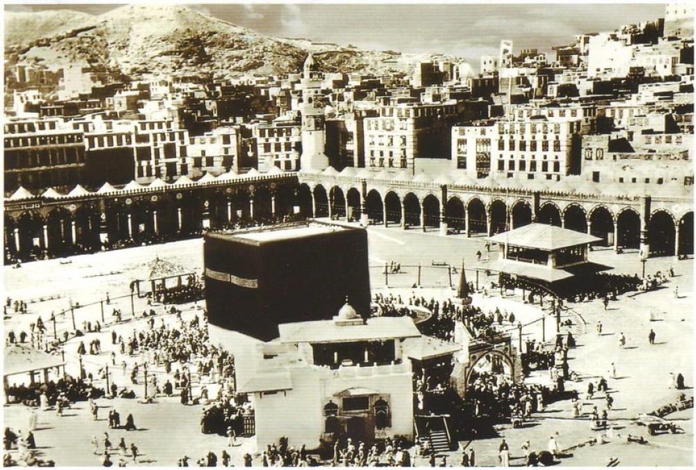 Вероятно, одна из самых старых фотографий Каабы в Мекке (1902 год)