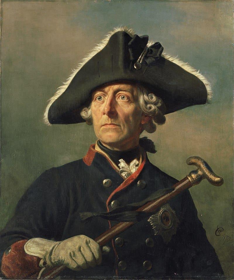 Вильгельм Кампхаузен «Портрет короля Пруссии Фридриха II»