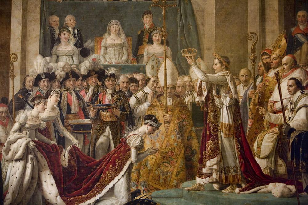 Жак Луи Давид «Коронование императора Наполеона I и императрицы Жозефины в соборе Парижской Богоматери 2 декабря 1804 года» (фрагмент картины)