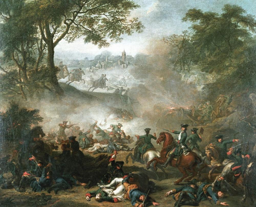 Жан-Марк Натье «Сражение при Лесной»
