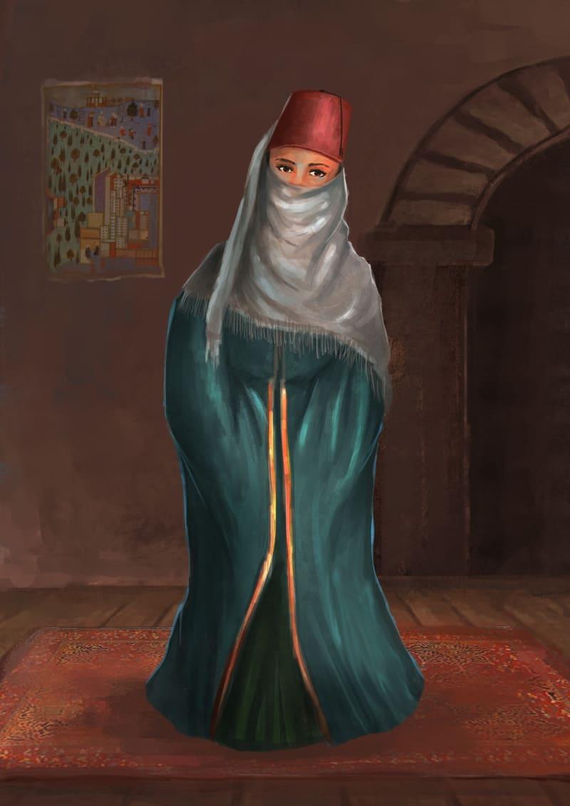 Женщина в Османской империи / © Rizka Prayuda / rizkaprayuda.artstation.com