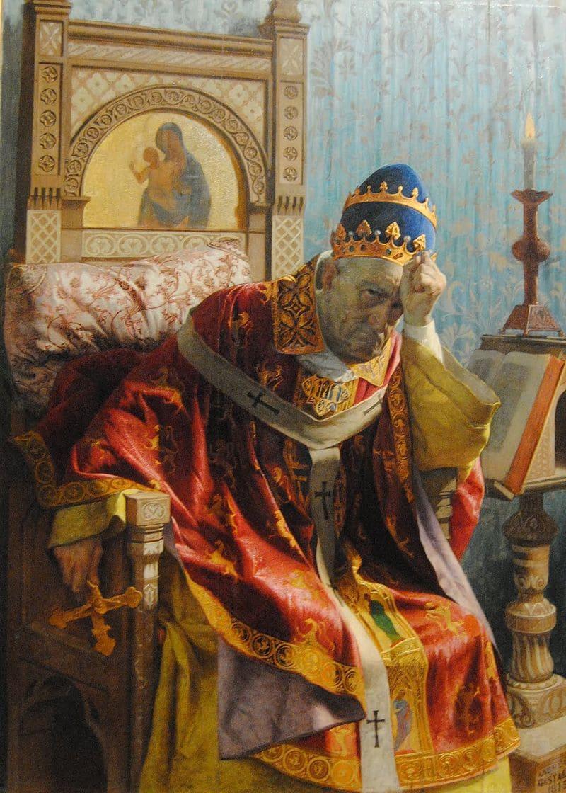 Андреа Гастальди «Портрет Папы Бонифация VIII»