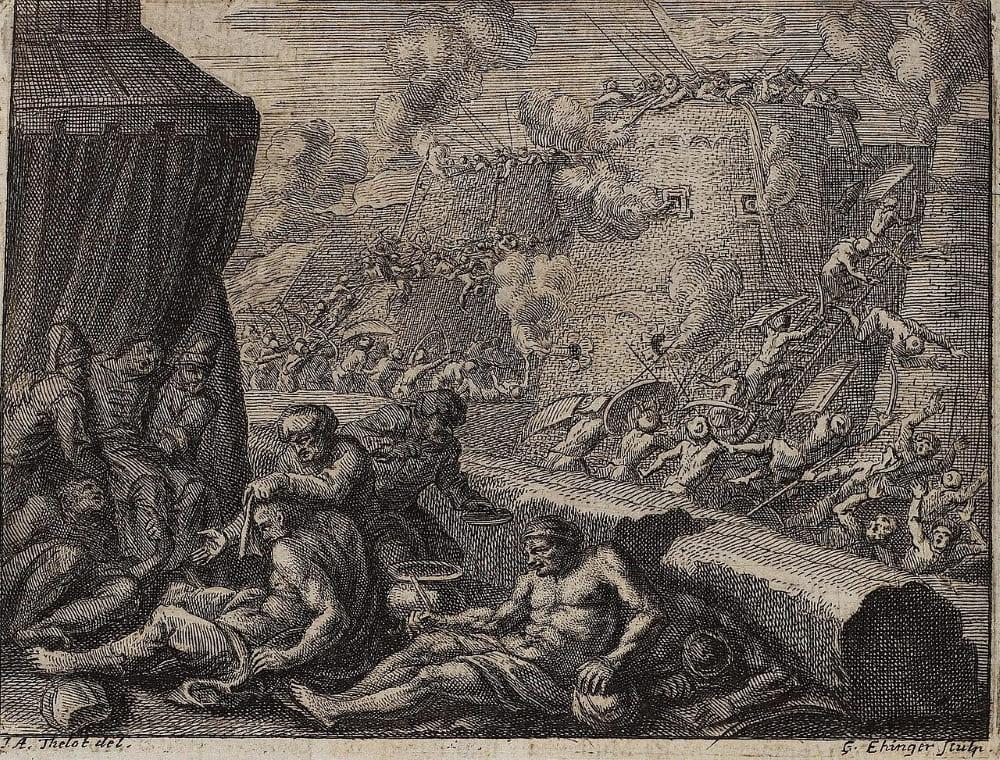Бои в Каире в представлении европейского художника XVII века