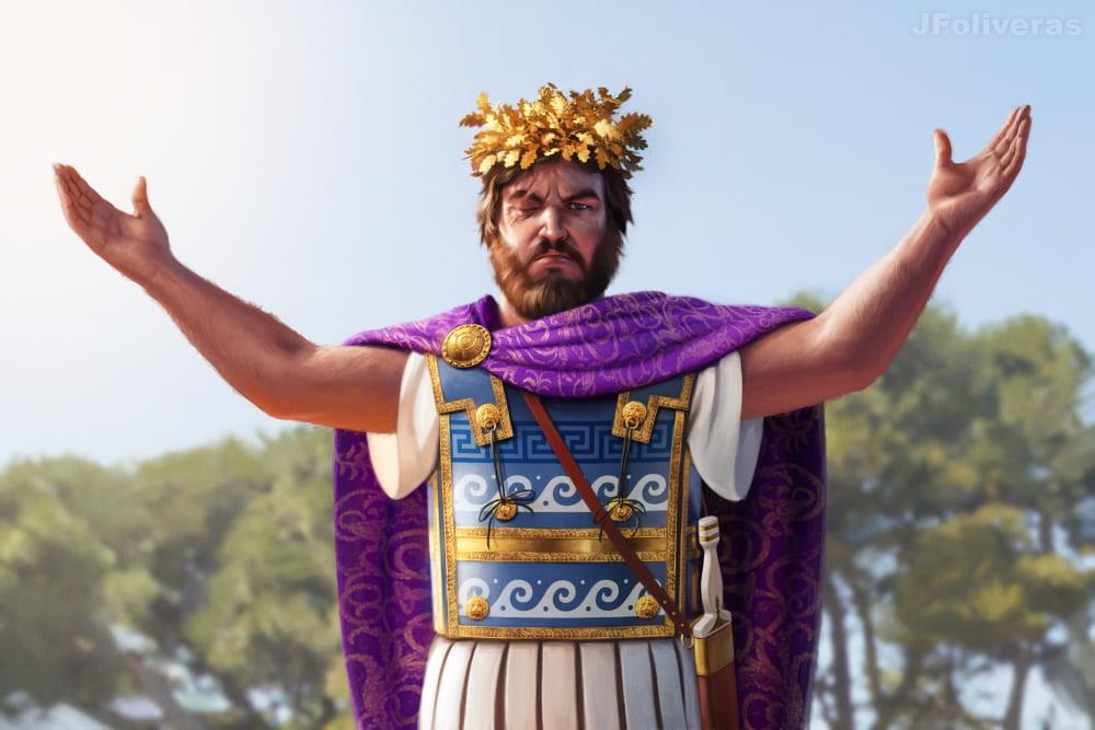 Филипп II Македонский / © Joan Francesc Oliveras Pallerols / jfoliveras.artstation.com